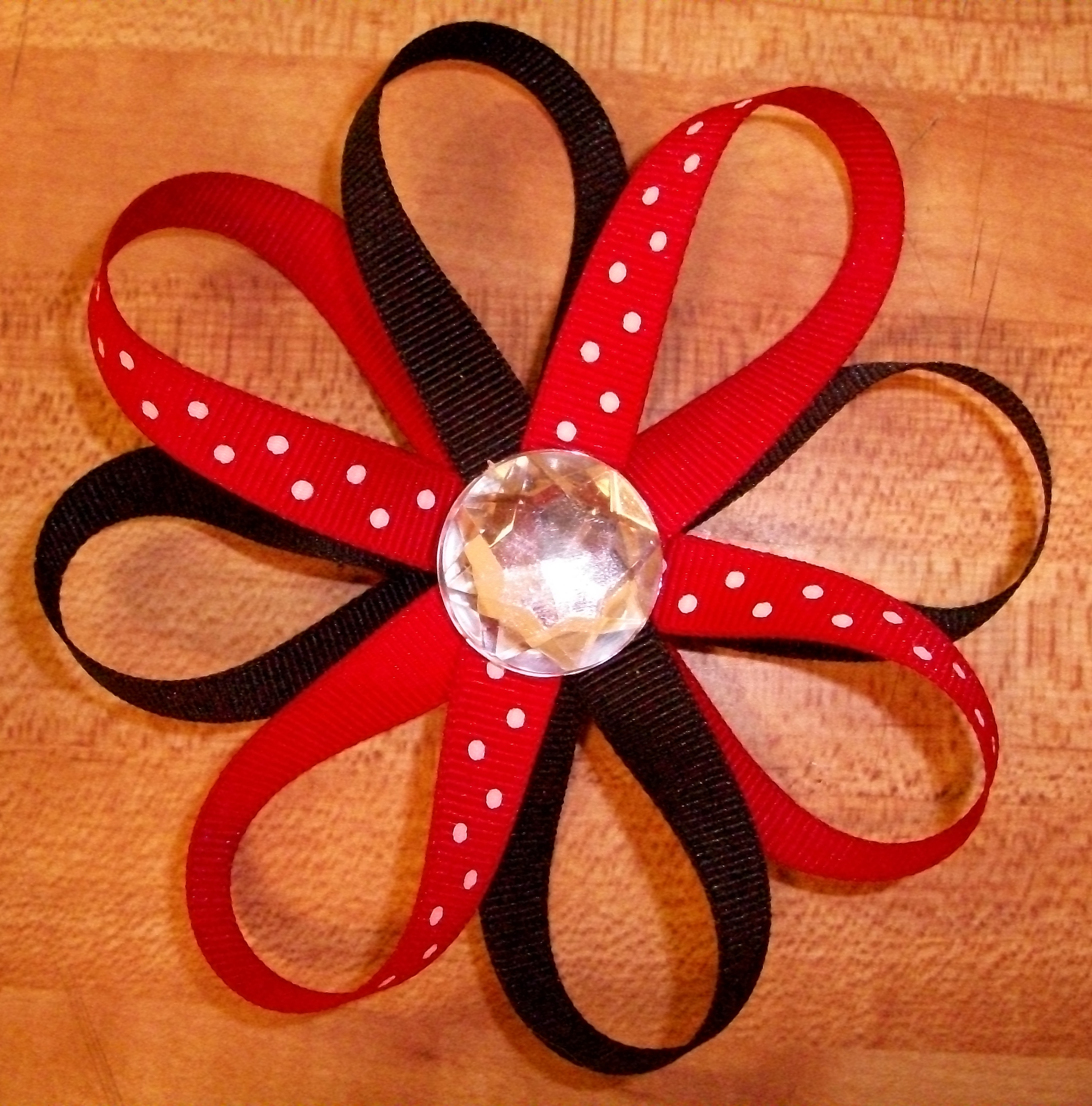 Ribbon Flower Tutorial Domesticating Michelle