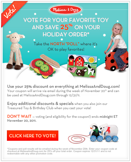 "Melissa & Doug North ""Poll"""