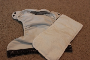 Two parts: Pocket diaper and insert