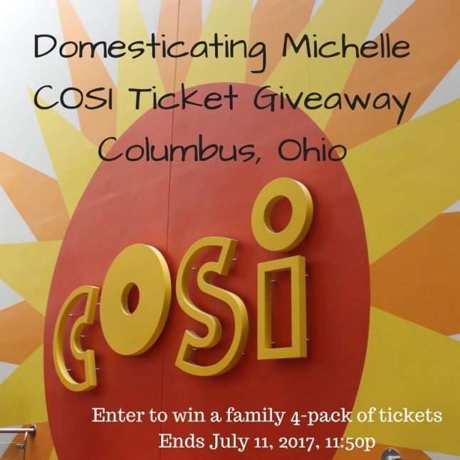 Domesticating MichelleCOSI Ticket Giveaway